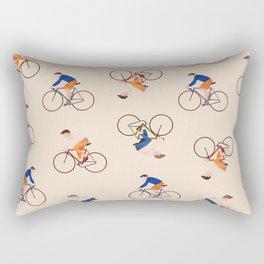 Bike Pattern Rectangular Pillow