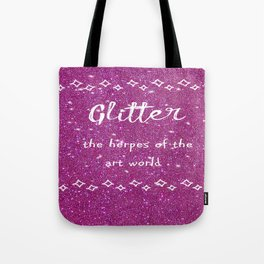 Quirky funny glitter - pink Tote Bag