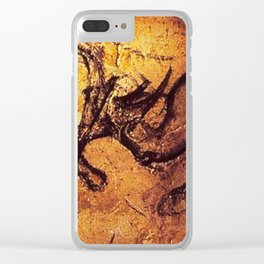 Fighting Rhinos // Chauvet Cave Clear iPhone Case