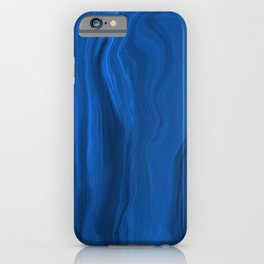 Marblesque Royal Blue 1 - Abstract Art Marble Series iPhone Case