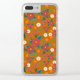 Colorful flowers Clear iPhone Case