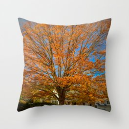 Blooming Fall Throw Pillow