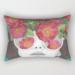 The optimist // rose tinted glasses Rectangular Pillow