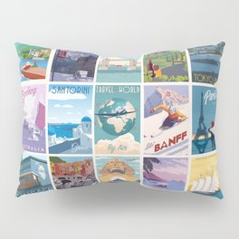 Travel the World Pillow Sham
