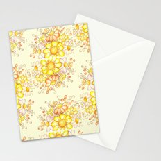Larger Faded Flowers Tiled Stationery Cards