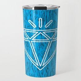 diamond cyan Travel Mug