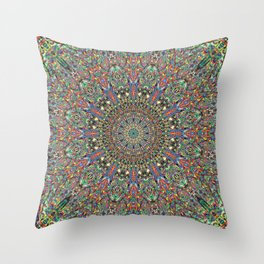 Mexican Difference Mandala Throw Pillow