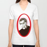 dracula V-neck T-shirts featuring Dracula  by Christopher Chouinard