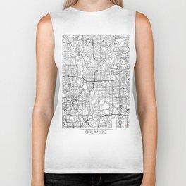 Orlando Map White Biker Tank