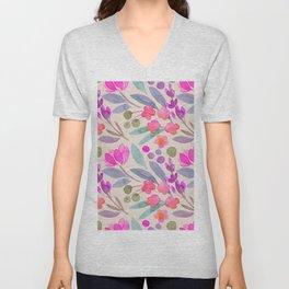spring floral p Unisex V-Neck