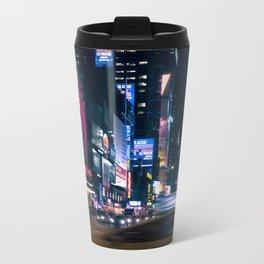 Neon Signs in New York, USA / Night City Series Metal Travel Mug