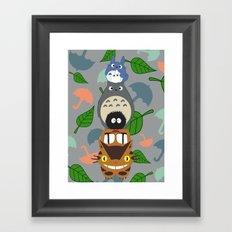 Troll Totem Framed Art Print