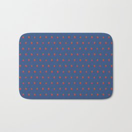 Blue Strawberry Field Bath Mat