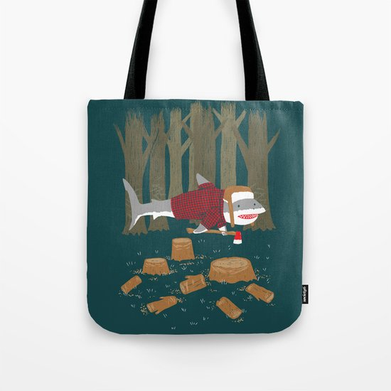 LumberJack Shark Tote Bag