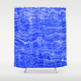 Egyptian Marble, Lapis Blue Shower Curtain