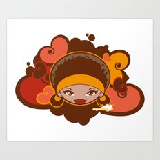 Bee-J Color Art Print
