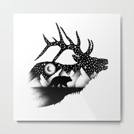 THE ELK AND THE BEAR Metal Print