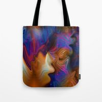 zappa Tote Bags featuring Cozmic Debris by Robin Curtiss