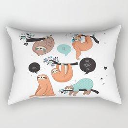 Keep calm and be Sloth Rectangular Pillow