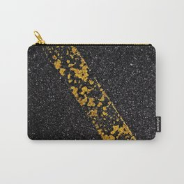 Old Yellow painted line on asphalt road Carry-All Pouch