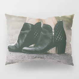 Leather Booties Pillow Sham