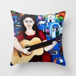 """Violeta Parra - """"Black wedding"""" Throw Pillow"""