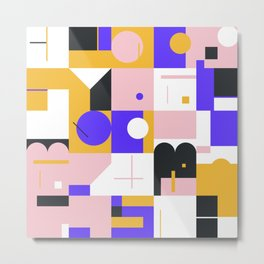 Abstract Geometric Composition 096 Metal Print