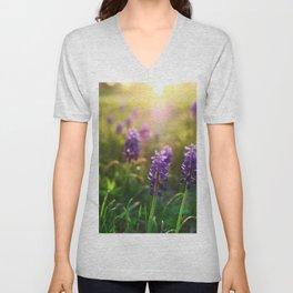 Grape Hyacinths (Muscari) Unisex V-Neck