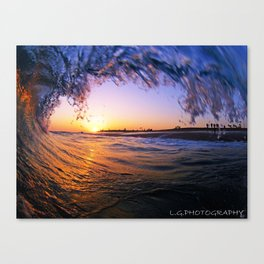 WEDGE SUNSET Canvas Print