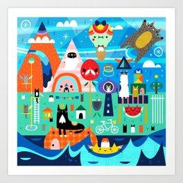 Kitty Island Art Print