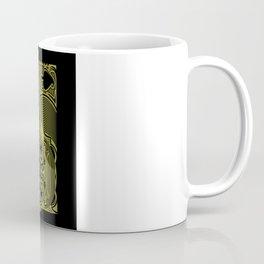 Ace of Spades Gold Skull Playing Card Coffee Mug