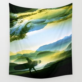 Sunny Surf Wall Tapestry