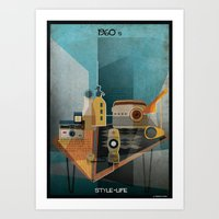babina Art Prints featuring 1960_STYLE-LIFE by federico babina