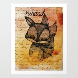 Renard (Fox) Art Print