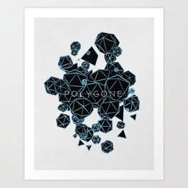 Polygon Polygone - Blue Art Print