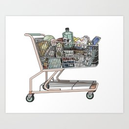 The Shopping Art Print