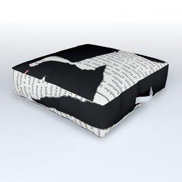 Coricata nera Outdoor Floor Cushion