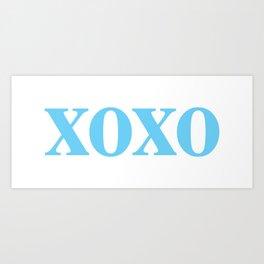 Light Blue XOXO Kunstdrucke