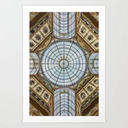 Ceiling of the Galleria Vittorio Emanuele II, Milan Art Print