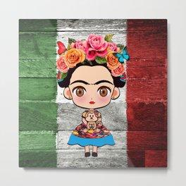 Frida Mexican Metal Print