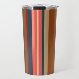 Minimal Art Retro Lines 13B Travel Mug