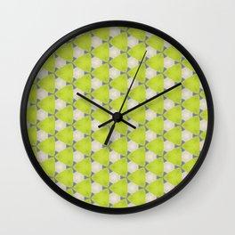 Neon geometry Wall Clock