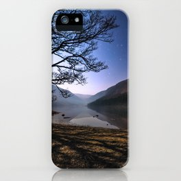 Night sky in Glendalough, Wicklow Mountains - Ireland Print (RR 266) iPhone Case