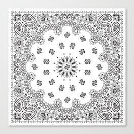 Bandana - White - Paisley - Southwestern Canvas Print