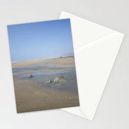 ENDLESS DESERTED BEACH SANDYMOUTH CORNWALL Stationery Cards