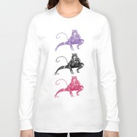 gotham Long Sleeve T-shirts featuring Gotham Catgirl by Chelestino