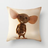 rat Throw Pillows featuring Rat by timecore