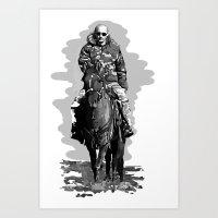 putin Art Prints featuring Putin cool by Valentina