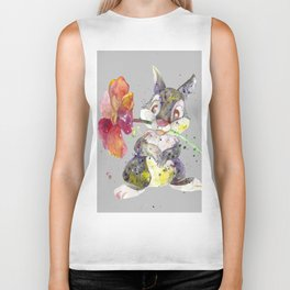 Bunny With flower Biker Tank