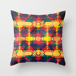 Green Abstract Diamond Throw Pillow